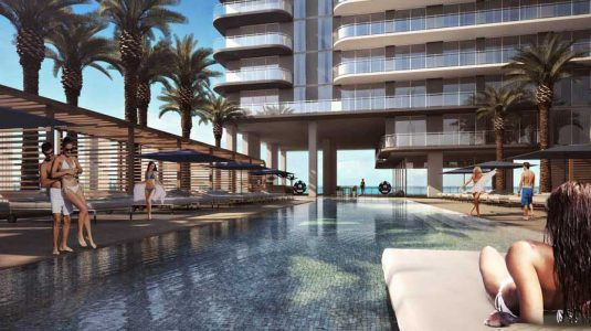 artists impression for apartment development Hyde Midtown Residence Miami