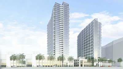 artists impression of Midtown 6 and Midtown 7 apartments in Miami