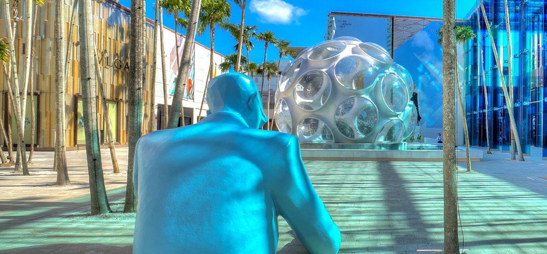modern art sculptures in Miami Design District